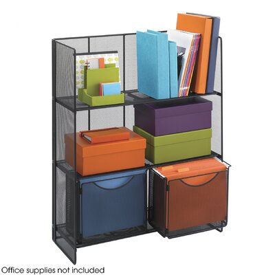 "Safco Products Company Onyx Fold-Up 34.25"" H 3 Shelf Shelving Unit"