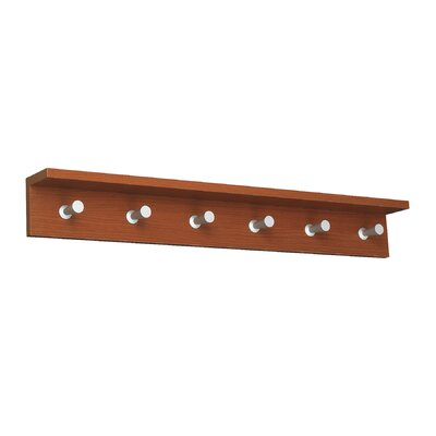 Safco Products Company Contempo 6 Hook Wood Wall Rack