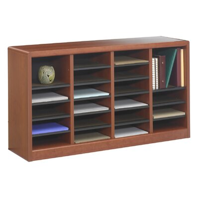"Safco Products Company E-Z Store Wood 23"" Literature Organizer"