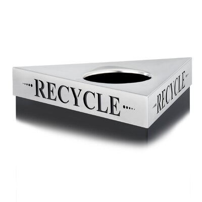 "Safco Products Company Trifecta Waste Receptacle Lid, Laser Cut ""Waste"" Inscription"