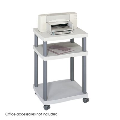 Safco Products Company Wave Design Printer Stand, 3-Shelf
