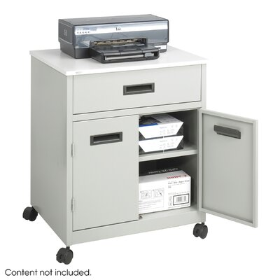 Safco Products Company Steel Machine Stand with Pullout Drawer