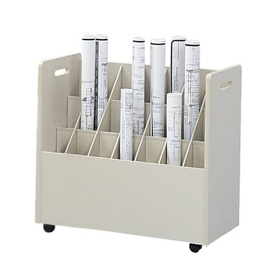 Safco Products Company Mobile Roll File (21 Tubes)