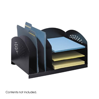 Safco Products Company Combination Desk Rack 3 Upright/ 3 Horizontal