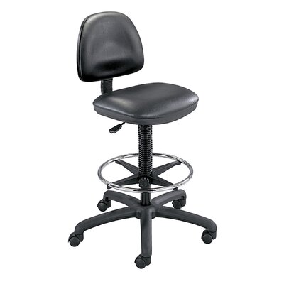 Precision Extended Height Swivel Stool with Adjustable Footring