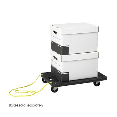 Safco Products Company Stowaway Polyethylene Dolly Cart