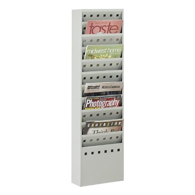Safco Products Company Steel Magazine Rack, 11 Compartments