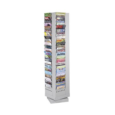 Safco Products Company Steel Rotary Magazine Rack, 92 Compartments