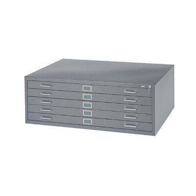 "Safco Products Company 36"" W Five-Drawer Steel Flat File with Optional Open Base"