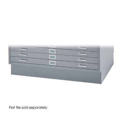 "Safco Products Company 36"" W Five-Drawer Steel Flat File with Optional Closed Base"