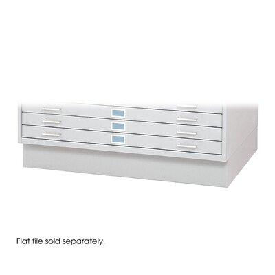 "Safco Products Company 42"" W Five-Drawer Steel Flat File with Optional Closed Base"