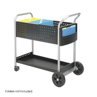 Safco Products Company Scoot Mail Cart, 1-Shelf
