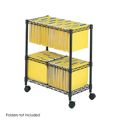 Safco Products Company Two-Tier Rolling File Cart