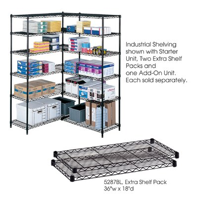 "Safco Products Company Industrial Wire Extra Shelves (36"" x 18"" Shelves) (Set of 2)"