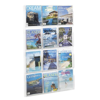 "Safco Products Company Reveal Clear Literature Displays, 12 Compartments, 49"" High"