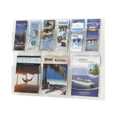 Safco Products Company Reveal Clear Literature Displays, 9 Compartments