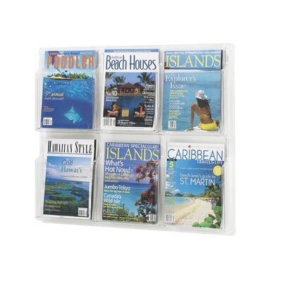 Safco Products Company Reveal Clear Literature Displays, 6 Compartments