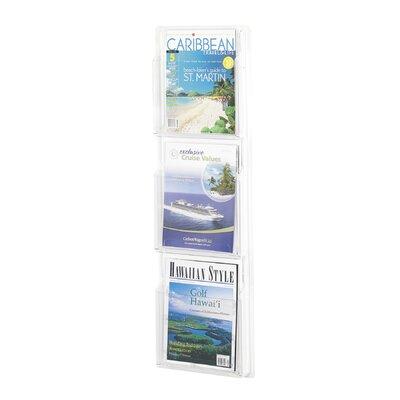 Safco Products Company 3 Pocket Magazine Rack