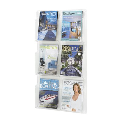 Safco Products Company Safco Magazine Rack with 6 Pockets (Vertical)