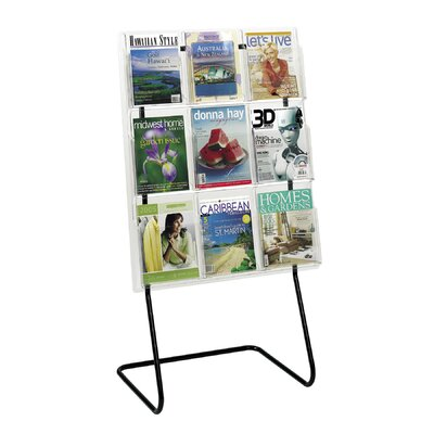 Safco Products Company Safco Magazine Rack Stand and Holders