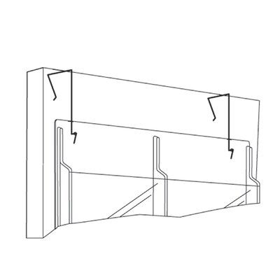 Safco Products Company Safco Partition Hangers (Set of 2)