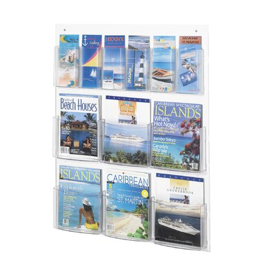 Safco Products Company Safco Magazine Rack with 6 Pamphlet and 6 Magazine Pockets