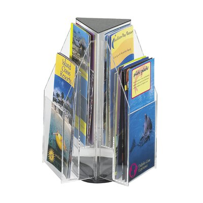 Safco Products Company Safco Clear Pamphlet Table Display with 6 Pockets (2-Tier Triangular)