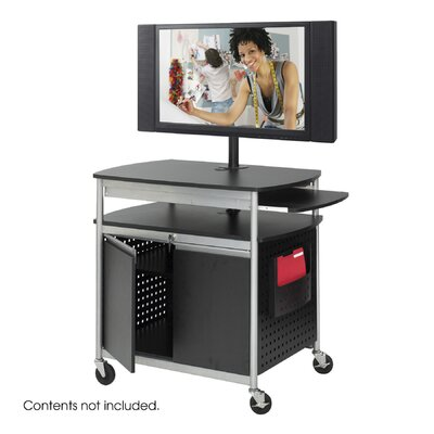 Safco Products Company Scoot Flat Panel Multimedia Cart in Black