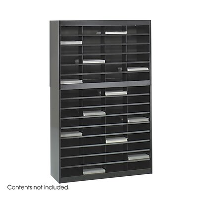 Safco Products Company Steel Literature Organizer with 60 Letter-Size Compartments