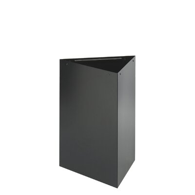 Safco Products Company Trifecta Receptacle Base in Black with Optional Lid