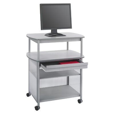Safco Products Company Impromptu AV Cart with Storage Drawer and 3-Shelf