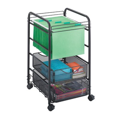 Safco Products Company Onyx Mesh File Cart with Drawers