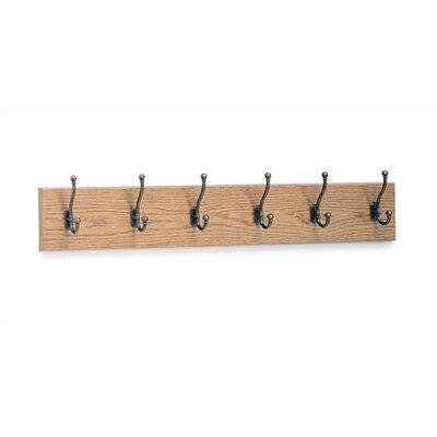 6 Hook Wood Coat Rack