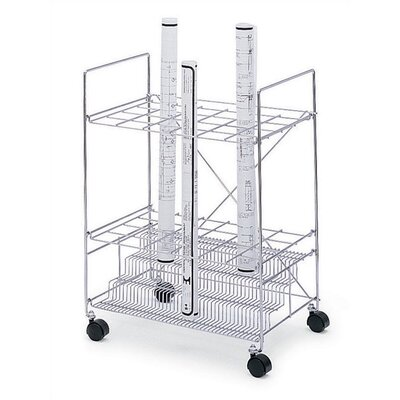 Safco Products Company 24 Compartments Chrome Wire Roll File