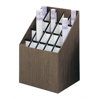 Safco Products Company Corrugated 20 Compartments Roll Files