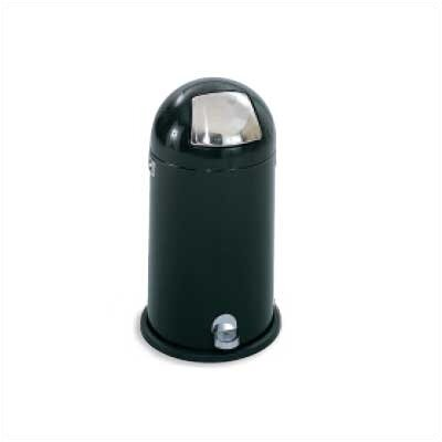 Safco Products Company Step-On Dome Round Receptacle, 12 Gal