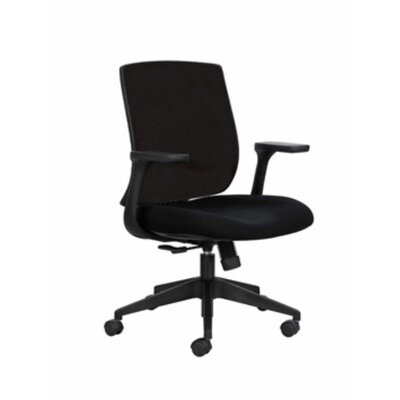 Safco Products Company Bliss Mid-Back Height Adjustable Black Office Chair