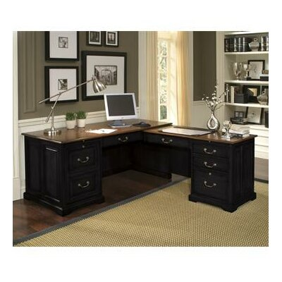 Riverside Furniture Bridgeport L-Shape Desk Office Suite