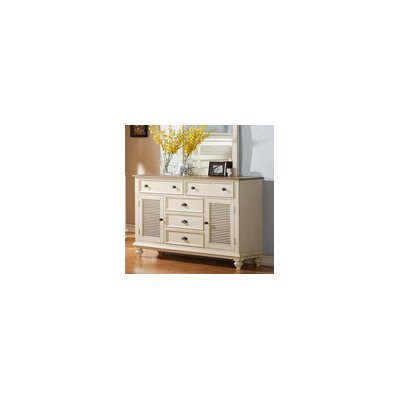 Coventry 6 Drawer Shutter Door Combo Dresser