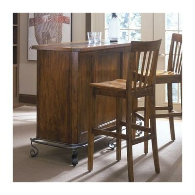 Harmony Slat Back Barstool in Harmony Antique Oak