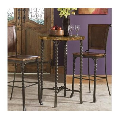 Riverside Furniture Medley 3 Piece Marble Top Pub Table Set in Camden