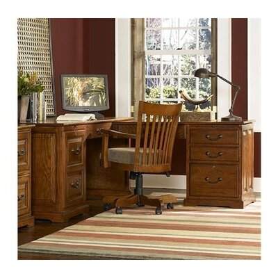 Riverside Furniture Seville Square L-Shape Desk Office Suite
