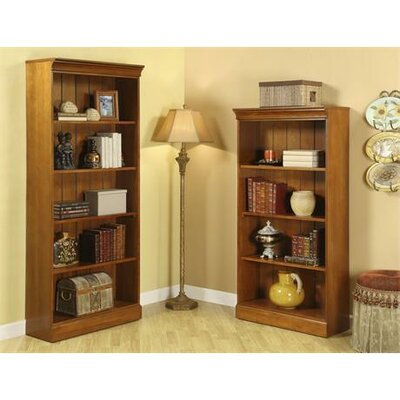 Riverside Furniture American Crossings Tall Bookcase in Fawn Cherry