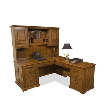 "Riverside Furniture Seville Square Workstation 42.75"" H x 68.5"" W Desk Hutch"