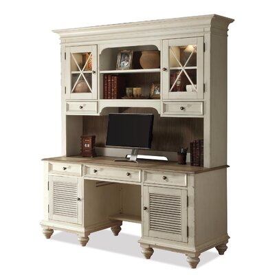 Riverside Furniture Coventry 2 T1 Shutter Door Credenza with Hutch
