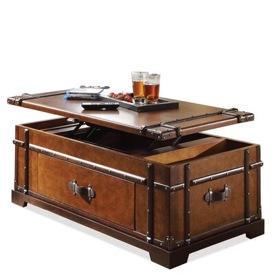 Riverside Furniture Latitudes Steamer Trunk Coffee Table With Lift Top Reviews Wayfair