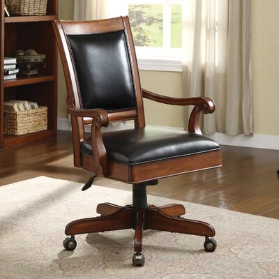 Executive Brown Leather Office Chair | Wayfair