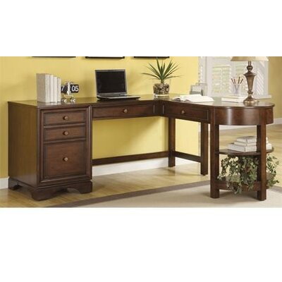Riverside Furniture Bella Vista L-Shaped Computer Desk with Hutch