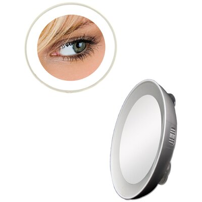 Spot Mirror with LED Surround Light in Silver