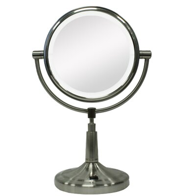 Zadro Vanity Mirror with LED Surround Light in Satin Nickel